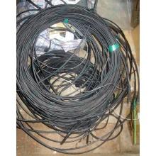 Оптический кабель Б/У для внешней прокладки (с металлическим тросом) в Клине, оптокабель БУ (Клин)
